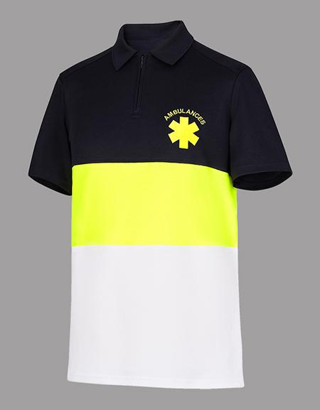 Polo masculin tricolore AMBULANCIER