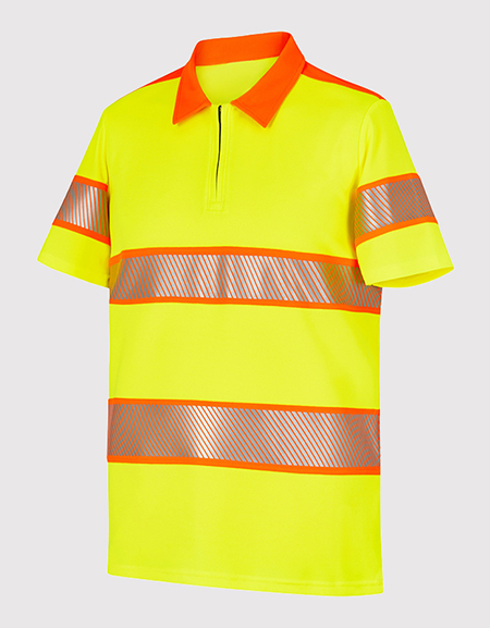 Polo manches courtes col chemise HV