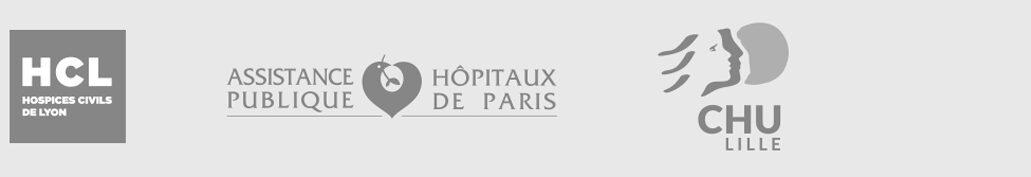 Logo HCL Lyon, APHP, CHU Lille