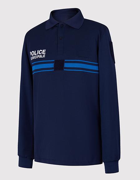Polo jacquard manches longues POLICE MUNICIPALE