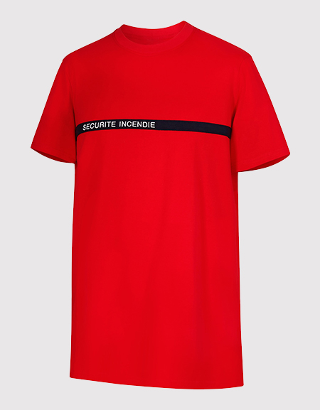Tee-shirt manches courtes SECURITE INCENDIE
