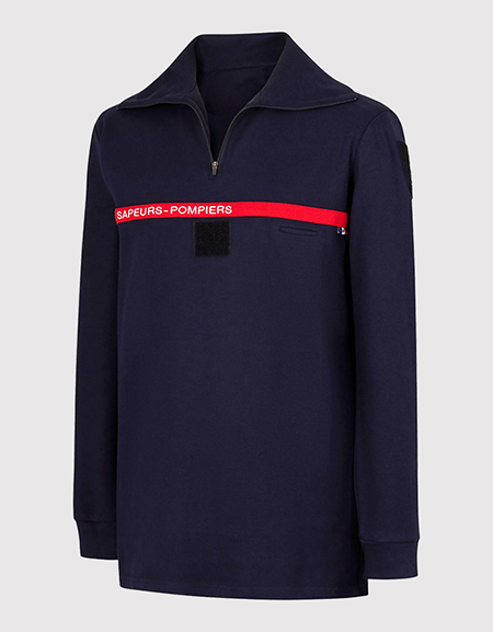 Polo masculin manches longues SAPEURS-POMPIERS type B