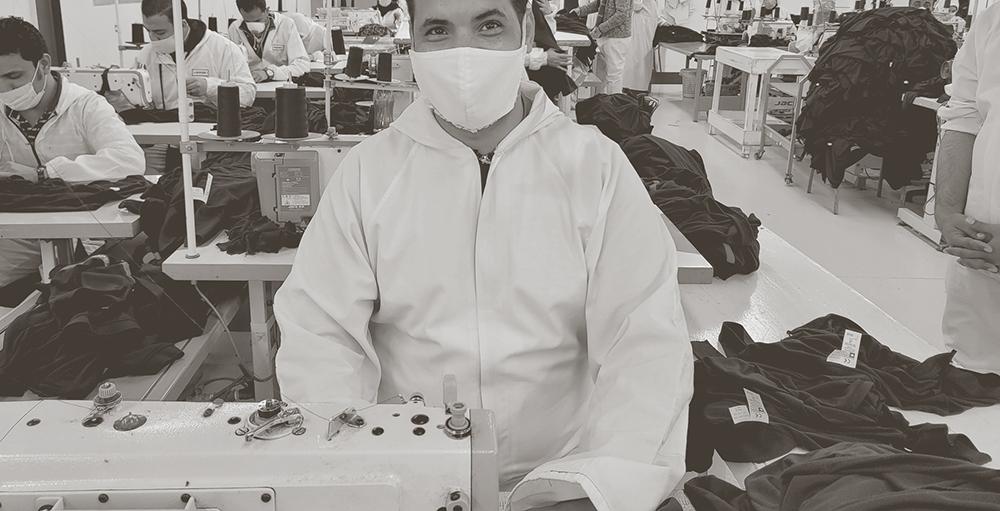 Usine Egypte, coupe, vêtements professionnels